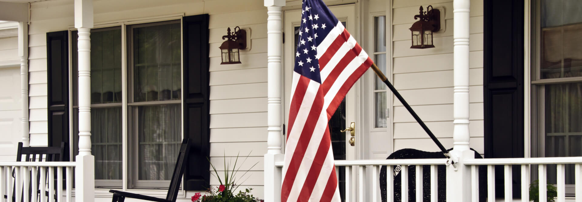 Home With Flag